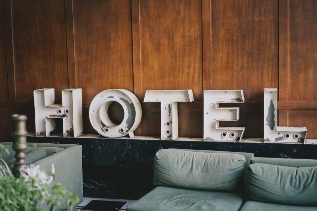 Types of venues for events: Hotels.