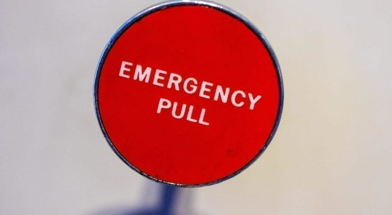 An emergency button like this one can save lives.